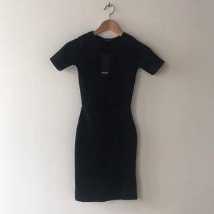 Slit Down Bodycon Dress